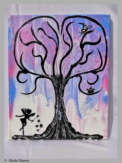 L'arbre à fée - Cécile Cloarec de jOse'tte et Peinture