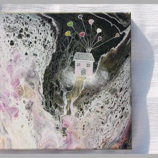 1020 S'accrocher à ses rêves - Cécile Cloarec chez jOse'tte et Peinture