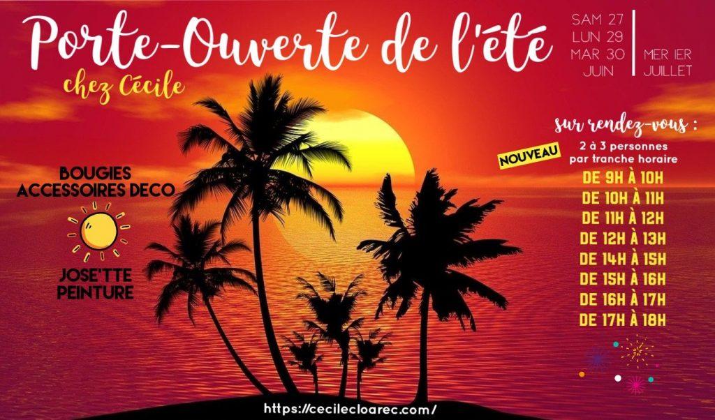 Porte-Ouverte de l'été PartyLite et jOse'tte et Peinture chez Cécile Cloarec